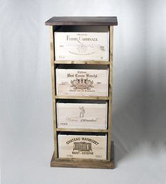 Custom Made Wine Crate Cabinet