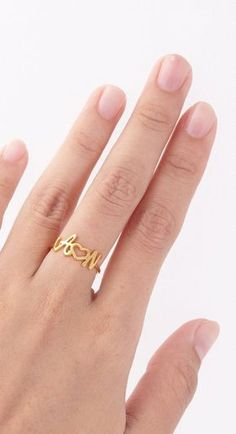 This Skinny Gold Infinity ring is definitely a new favorite! I twist a length of Gold-filled metal into a circular shape and lightly hammer it. Bracelet Initial, Initial Jewelry, Gold Jewelry, Jewelery, Initial Rings, Unique Jewelry, Name Rings, Birthday Gifts For Boyfriend, Boyfriend Gifts
