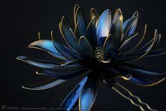 簪作家榮 2011黒鳥簪 Japanese hair accessory -Crow Kanzashi- by Sakae, Japan  sakaefly.exblog.jp/ www.flickr.com/...