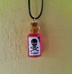 "Elixir Crafts : ""Poison"" bottle necklace"