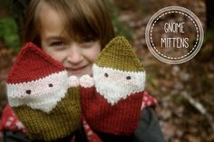 Ravelry: Gnome Mittens pattern by Birch Hollow Cottage Crochet Mittens, Mittens Pattern, Knitted Gloves, Crochet Baby, Knit Crochet, Knitting Projects, Crochet Projects, Knitting Patterns, Stitch Witchery