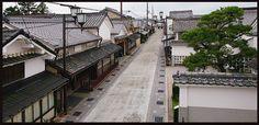 江戸時代から続く妻入り商家群の町並み