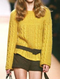 Мобильный LiveInternet Желтый пуловер с круглой кокеткой   Ниноччка - Обо всём, что заинтересовало...  