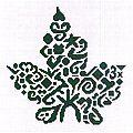 cross stitch leaf pattern
