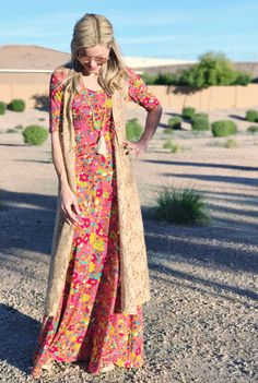 Ahhhh my perfect Bohemian LuLaRoe outfit! The Ana dress paired with a lace Joy vest. Love!! Click for more style ideas and to shop LuLaRoe!