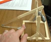Week 1-2: An authentic trebuchet made of popsicle sticks & fishing weights