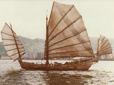 Chinese junk, Hong Kong harbour 1982