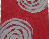 YEAR END SALE 25% off Whirling Dirvishes acrylic on fiberboard 5 inches x 8 inches