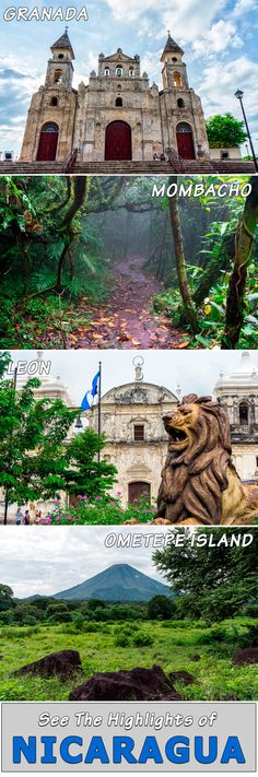 Nicaragua Travel Highlights - find out the best things to do and places to travel in Nicaragua. From colonial cities like Granada and Leon to the beautiful nature of Ometepe Island and Mombacho cloud forest, Nicaragua offers travelers lots to see and do at budget prices.