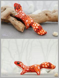 Little Gecko by nicsadika.deviantart.com on @DeviantArt #figurine #karhuart #cute #cuteanimal #gecko #leopardgecko #lizard #miniaturesculpture #velvetclay #velvet_clay #totembykarhu