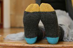 color blocked socks!