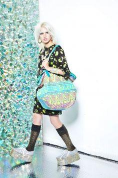 High glow printed large overnight bag EMMA MULLHOLLAND