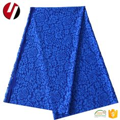 fashion style royal navy blue lace material