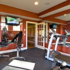 Basement Exercise Rooms Design, Pictures, Remodel, Decor and Ideas - page 4