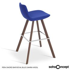 Soho Concept Pera Sword Stool's seat is upholstered with a removable velcro enclosed leather, PPM or wool fabric slip cover. #SohoConcept #BarStool #CounterStool #SohoConceptTeam Available at allmodernoutlet.com  http://www.allmodernoutlet.com/soho-concept-pera-sword-stool/