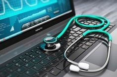 Stock photo Creative abstract healthcare, medicine and cardiology tool concept: laptop or notebook computer PC with medical cardiologic diagnostic test software on screen and stethoscope on black . Branding Digital, Notebooks, Information Technology Services, Human Services, Slow Computer, Linux, Sistema Android, Computer Repair Services, Laptop Repair