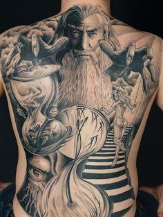 Hourglass Tattoo Design