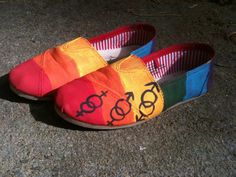 Lgbt pride customized shoes