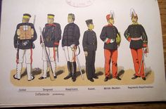 Uniforms of Japan and European Military in late and early - Herbert Booker - Picasa Albums Web Guerra Boshin, Boshin War, 19th Century, Army, Military, Japanese, Baseball Cards, History, Sports