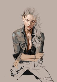 Concept Art Illustration Bad Girl by Kyrie