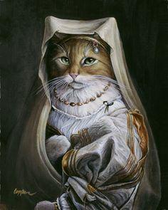 "Melinda Copper  ~  ""Goldie""  (original painting La Velata by Raphael)"