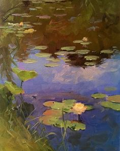 Fine Art Paintings for Sale from American Impressionist - Dennis Perrin Fine Art — Dennis Perrin Fine Art Landscape Drawings, Landscape Art, Landscape Paintings, Landscape Design, Lily Painting, Painting & Drawing, Painting Trees, Painting Lessons, Contemporary Wallpaper