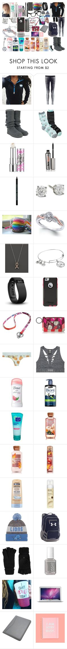 """10/13/17"" by itwirl123 ❤ liked on Polyvore featuring Ivory Ella, NIKE, UGG Australia, Free Press, Maybelline, Benefit, Sephora Collection, Anastasia, Bloomingdale's and Alex and Ani"