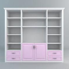 3D Bookshelves Storage Model - 3D Model