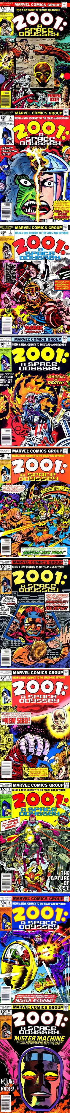 Jack Kirby's ten-issue 2001: A Space Odyssey series ran from December 1976 to September 1977.