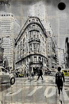 """Saatchi Art Artist Loui Jover; Drawing, """"midtown walk N.Y."""" #art"""