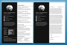 Resume/CV and Cover Letter: Sam by Nonaglyph Design on College Resume Template, Best Resume Template, Resume Design Template, Design Resume, Cv Design, Design Ideas, Cover Letter For Resume, Cover Letter Template, Letter Templates