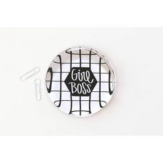 Girl Boss Desk Accessories Custom Glass Paperweight Cute Office... (37 AUD) ❤ liked on Polyvore featuring home, home decor, office accessories, home & living, office, paperweights, silver, inspirational signs, inspirational paperweights and handmade signs