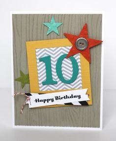 Stampin' Up! - Birthday Boy Card - Sarah Sagert - www.sarahsagert.stampinup.net/blog