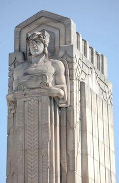 Ohio Art Deco Building made of Berea Sandstone