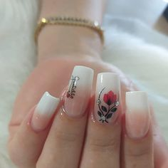 58 Ideas For Nails Sencillas 2017 Nagel Hacks, Gel Nails French, Super Nails, Types Of Nails, Flower Nails, Pink Nails, Nails Inspiration, Beauty Nails, Pretty Nails