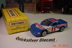 Matchbox T Bird Stocker Blue 1995 7 Box