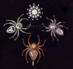 Beautiful beaded spiders
