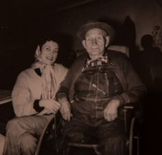 My mother with her beloved grandfather, Gustav Adolph Swanson