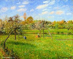 Camille Pissarro Morning, Spring, Grey Weather, Eragny Oil Painting Reproductions for sale Camille Pissarro Paintings, Pissaro Paintings, Gustave Courbet, European Paintings, Impressionist Art, Oil Painting Reproductions, Claude Monet, Paris, Art Google
