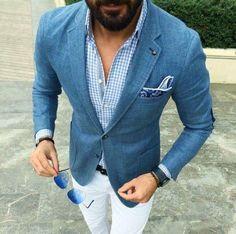 #Suit, #Blazer, #Fashion, #ManClothing, #Shirt, Dress shirt, Casual - Follow @extremegentleman for more pics like this!