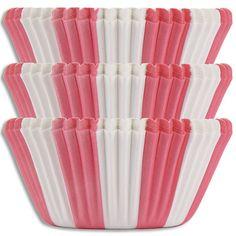 Pink Circus Stripe Baking Cups - Layer Cake Shop