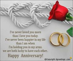 Anniversary Cards - Happy Anniversary Messages throughout Wedding Anniversary Photo Cards Anniversary Greetings For Husband, Happy Anniversary Messages, Wedding Anniversary Message, Happy Marriage Anniversary, Anniversary Cards, Love You More Than, Photo Cards, Rose Flowers, Morning Quotes