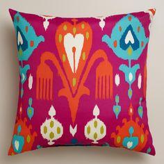 Fuchsia Aberdeen Outdoor Throw Pillow   World Market