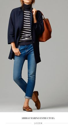 Suits – Blazers – WOMEN – Massimo Dutti – United States of America – Hijab Fashion 2020 Preppy Outfits, Mode Outfits, Fall Outfits, Fashion Outfits, Womens Fashion, Navy Blazer Outfits, Denim Outfit, Fashion Clothes, Work Casual
