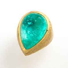 African Pariba Tourmaline in 18k gold from Fairchild Jewelry, Santa Fe.  If I ever have an extra 22,500.