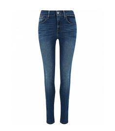 Levis High Rise Blue Lagoon Skinny Jeans
