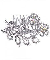 Two Flower Hair Comb $14.00