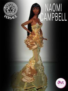 Naomi Campbell Ooak DOll | OskArt DOLLS