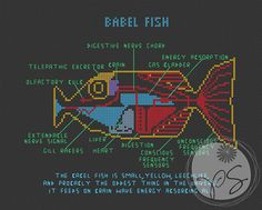 The Hitchhiker's Guide to the Galaxy - Babel Fish (Printable PDF Pattern)