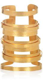 HERVÉ VAN DER STRAETEN  24-karat gold-plated cutout cuff